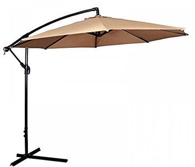 9. MR Direct 10' Hanging Patio Umbrella