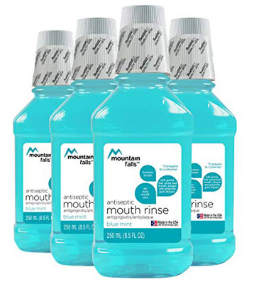 7. Mountain Falls Blue Mint Antiseptic Mouthwash