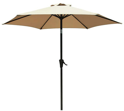 8. COBANA 7.5 ft Patio Umbrella, 6 Ribs