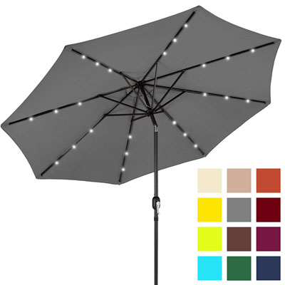 7. BEST CHOICE PRODUCTS 10ft Patio Umbrella w/Tilt Adjustment