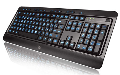 2. Azio Tri-Color KB505U Backlit Wired Keyboard