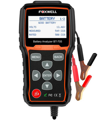 2. FOXWELL BT705 100-2000 CCA Battery Load Tester