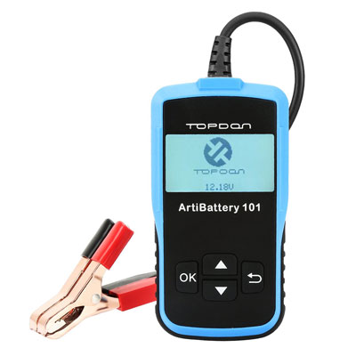 7. TT TOPDON AB101 Battery Tester on Cranking System