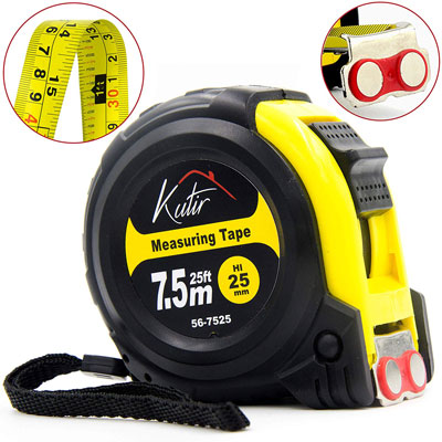 4. Kutir Inches, Imperial and Metric Tape Measure - 25 Foot