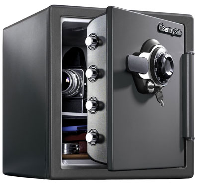 2. SentrySafe SFW123DSB Fireproof Safe with Dial Combination