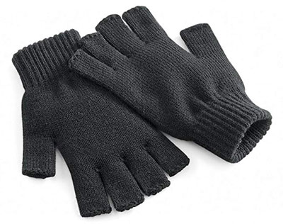 1. Beechfield Unisex Fingerless Winter Gloves
