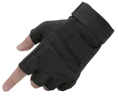 4. Seibertron Men's Black S.o.l.a.g Special Ops Fingerless Gloves