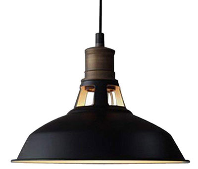 8. CLAXY Ecopower Industrial Barn Mini Pendant 1 Light