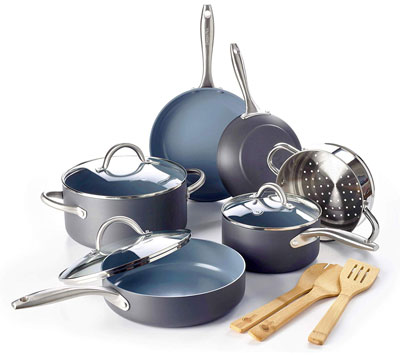9. GreenPan 12pc Lima Ceramic Non-Stick Cookware Set