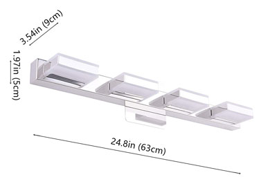 8. mirrea 24in Modern LED Vanity Light