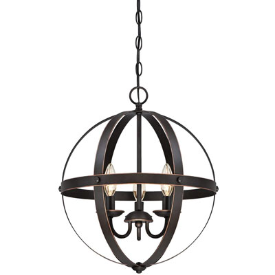 5. Westinghouse Lighting 6341800 Three-Light Pendant