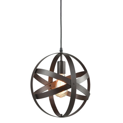 9. AXILAND Industrial Metal Spherical Pendant Lighting Fixture
