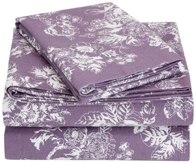 5. Pinzon 170g Floral Lavender, Twin Flannel Sheet