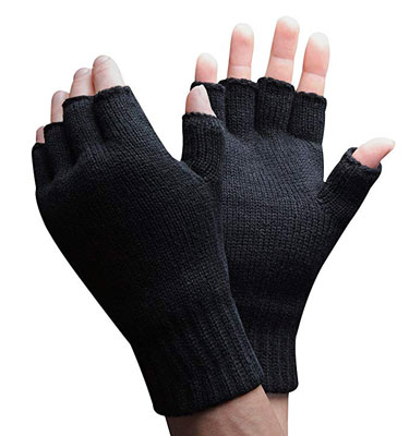 7. Thinsulate 3M 40 gram Thermal Insulated Winter Fingerless Gloves