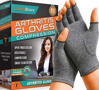 10. Comfy Brace Arthritis Hand Compression Gloves