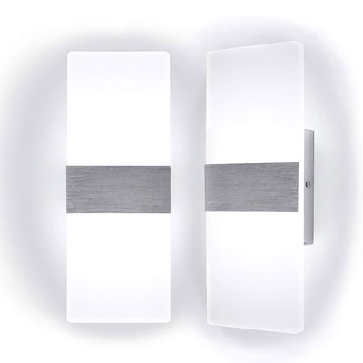 7. Kernorv Set of 2 Modern Led Wall Sconces (12W, 6000K)