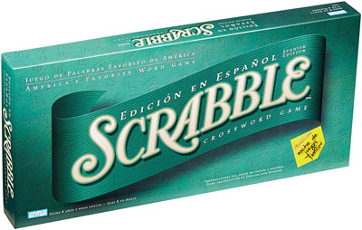 8. Hasbro EA Spanish Scrabble Board