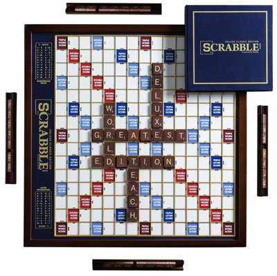 3. WS Game Deluxe Rotating Scrabble Board