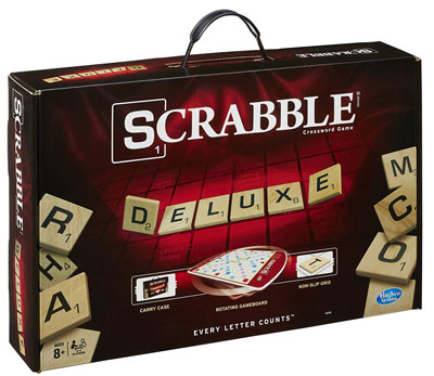5. Hasbro Gaming Deluxe Edition Scrabble Game