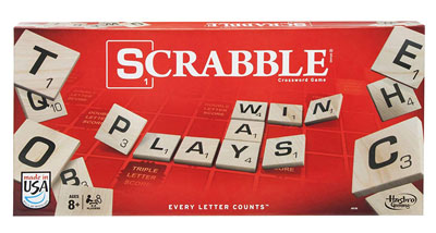 2. Hasbro Gaming Scrabble Board