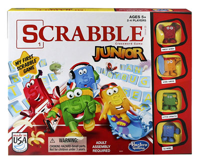 4. Hasbro Gaming Junior Scrabble Board