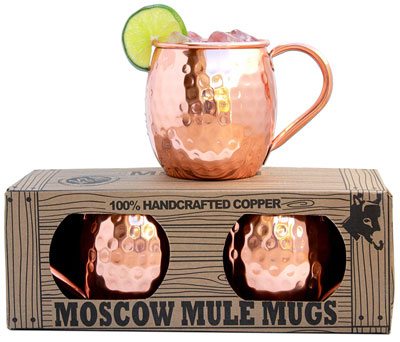 2. Morken Barware Set of 2 Moscow Mule Mugs