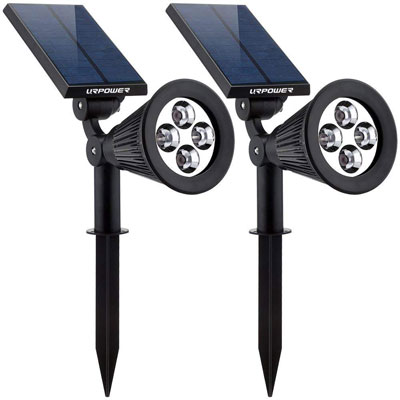1. URPOWER 2-in-1 4 LED Landscape Solar Lights