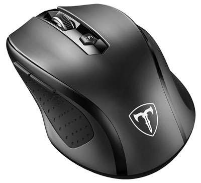 1. VicTsing MM057 2.4G Wireless Portable Mouse – Black