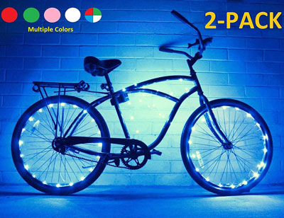 2. GlowRiders Assorted Bike String Wheel Lights