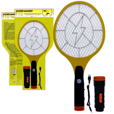 9. Koramzi F-10 Electric Mosquito Swatter/Bug Zapper (Newest Model)