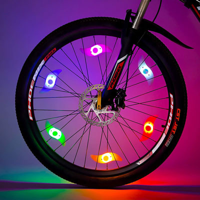 4. Willceal 6pcs Spoke Bike Wheel Light
