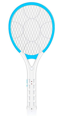 5. AOWOTO Plug in Electric Mosquito Racket with Battery