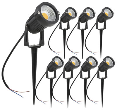 2. ZUCKEO 5W LED Landscape Lights (8 Pack)