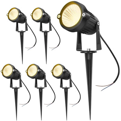 4. Hypergiant 12W LED Landscape Lights (6 Pack)