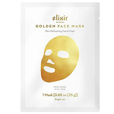 3. Elixir Cosmetics Gold Collagen Face Mask