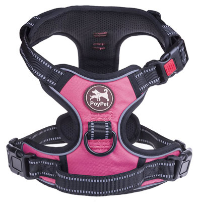6. PoyPet Back and Front Dog Harness Reflective Medium
