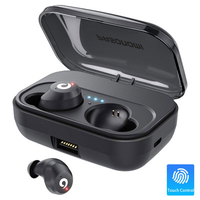 4. PASONOMI Wireless Bluetooth Earbuds with 2200mAH Charging Case