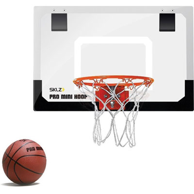 1. SKLZ Mini Pro Basketball Hoop 18x12 Inches Standard