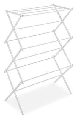 2. Whitmor Foldable White Drying Rack for Clothes