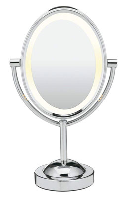 1. Conair 1x/7x Magnification Lighted Makeup Mirror Double Side