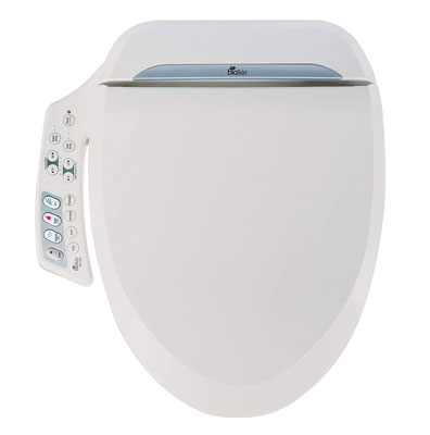 2. BioBidet BB-600 Elongated White Toilet Seat Posterior Nozzle
