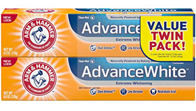 8. Arm & Hammer 6 Ounce Fresh Mint Whitening Advance Stain Defense