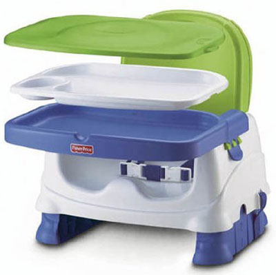 2. Fisher-Price Booster Seat Health Care Green and Blue