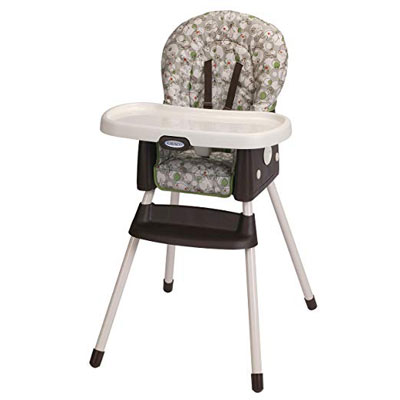 8. Graco Zuba Simpleswitch Booster and High Chair