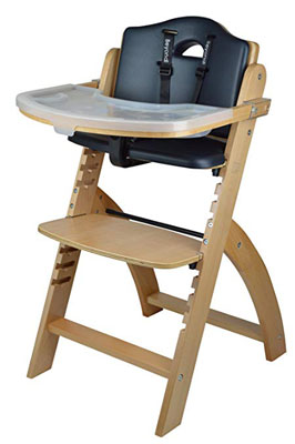 6. Abiie Wooden Adjustable Toddlers and Babies Dining Chair