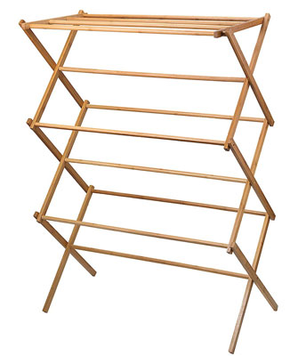 3. Home-it Bamboo Drying Rack Heavy Duty Stand