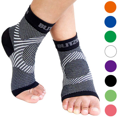 5. Blitzu Fas Relief Ankle Brace Arch Support Socks