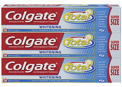 6. Colgate 7.8 Ounce 3-Count Whitening Toothpaste