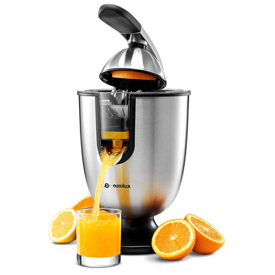 5. Eurolux ELCJ-1700 Stainless Steel Electric Citrus Juicer