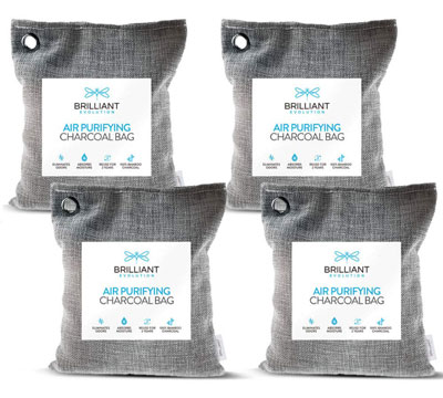 6. Brilliant Evolution Bamboo Charcoal Air Purifying Bag 220g 4 Pack